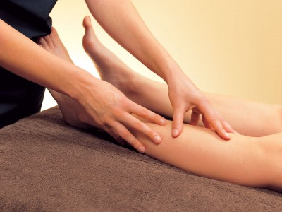 massage jambes thermes luz